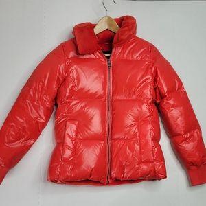 Banana Republic Lim Short Puff Red Jacket
